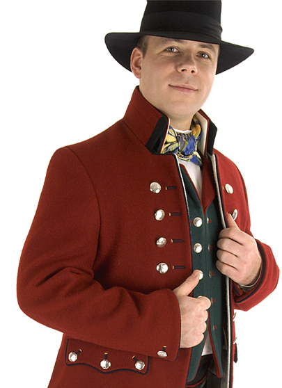 Rogalandsbunad - Rød jakke